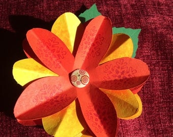 A Homemade Paper Flower.