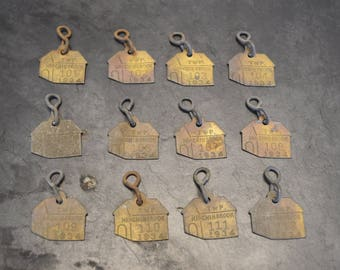 Brass Dog Tags 1934