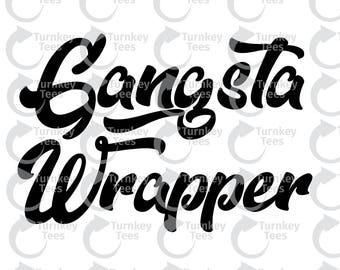 Gangsta Wrapper svg file| christmas svg|santa svg|holiday svg|funny Christmas svg|Vinyl Cutter Designs|Cameo Silhouette|Cricut svg