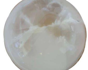 """5"""" White Selenite crystal ball"""