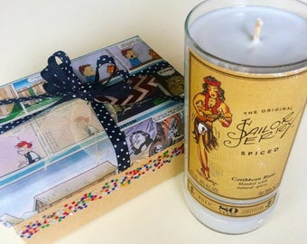 Cinnamon-scented Sailor Jerry Candle