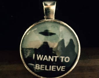 I want to believe collage charm