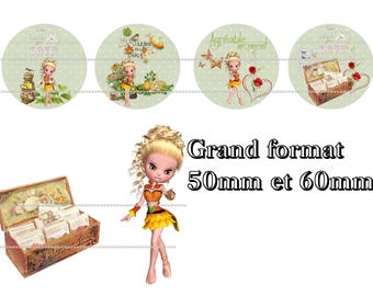 digital images 50mm and 60mm for mirrors or other print miss garden