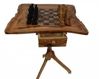 Chess Table - Tunisian Wood