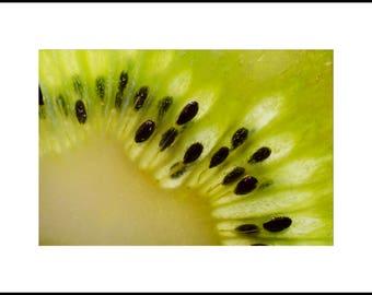 Kiwi Print Wall Art, Printable Kiwi Photograph, Kitchen Decor, Kiwi Poster, Modern Art, Abstract Art