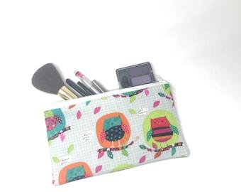 Cosmetic Bag, Makeup Brush Holder, Make-up Bag, Makeup Bag, Pencil Case, Makeup Organizer, Makeup Organizers, Zipper Pouch, Owl, Owls, Bird