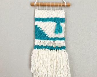 Bohemian Quartz and Yarn Weaving/Wall Hanging
