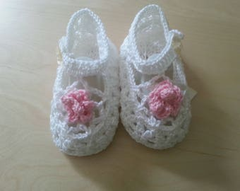 Christening shoes white Gr. 19