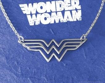 Wonder Woman Necklace, 925 Sterling Silver, Wonder Pendant Wonder Woman Film, Wonder Woman Jewelry, Gift For Her, Super Hero, Jewellery
