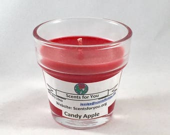 Candy Apple Votive Cup Candle