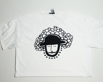 Moustache Man scoop neck t-shirt