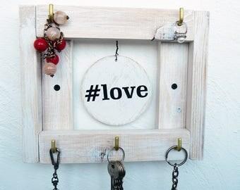 Key Holder For Wall, Key Holder #love, Key Holder wood, Rustic Key Holder, Key Organizer, Key Storage, Key Hooks, Key Hook For Wall