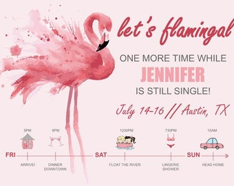 Let's Flamingal Bachelorette Party Invite