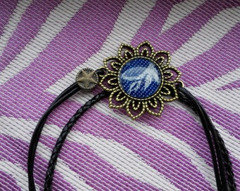 Leather bracelet with cari slings mitrill luin waita