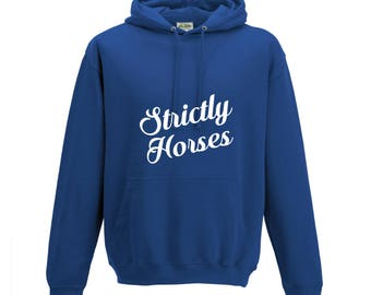 iLeisure Girls Strictly Horses Hooded Top with White Print