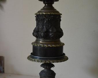 RARE bronze oil lamp and regulates late nineteenth