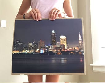 Night Skyline | Cleveland 16x20