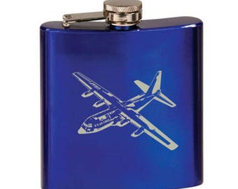 Stainless Steel Flask - Military Aircraft Designs