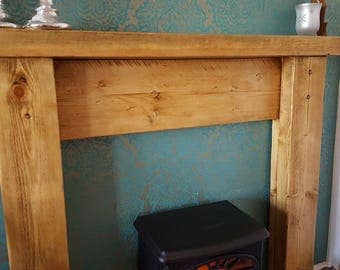 Reclaimed Timber Rustic Fire Surround