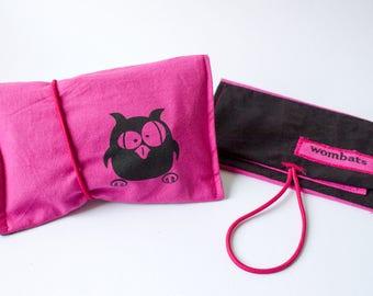 Tobacco pouch pink black,. Motifs