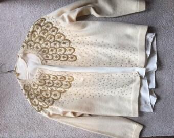 Vintage 1950s Jaico Beaded Sweater
