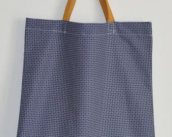 Tote bag Navy Blue and mustard - mustard Theme