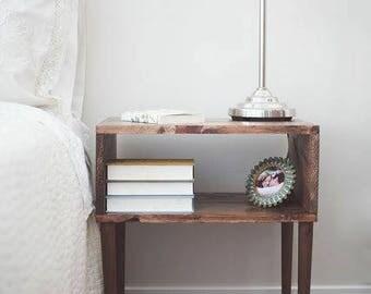 Mid-century modern wood nightstand/table