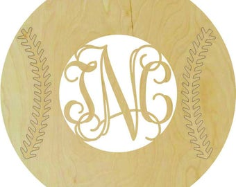 Baseball/Softball Wooden Monogram