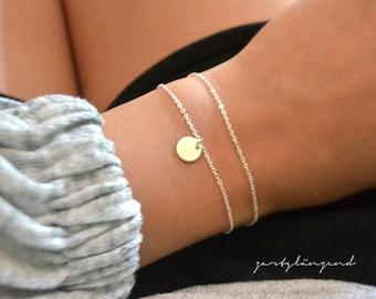 """925 sterling silver bracelet with slide """"S"""""""