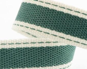 Ribbon - 15mm x 10m Cotton Twill Ribbon - Jade