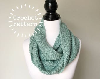 Crochet Pattern - Double Puff Infinity Scarf - Instant PDF Download