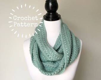 Crochet Pattern - Double Puff Circular Infinity Scarf - Instant PDF Download
