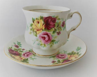 Cup and saucer Balmoral Castle-fine china bone porcelain