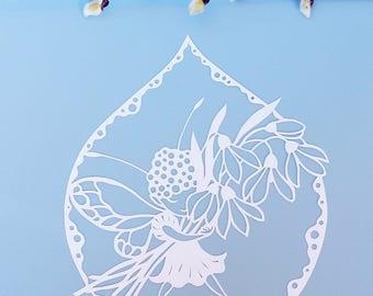 "Cutout ""Flower fairy"", hand-cut"