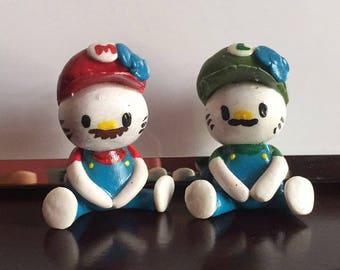 Mario and Luigi hello kitties