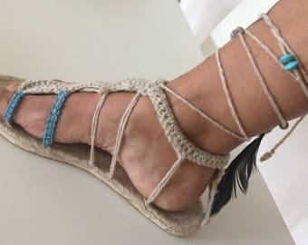 Espadrilles crochet sandals