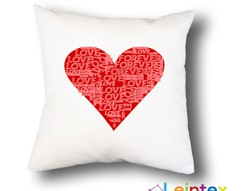 Pillowcase 40x40 pillow heart No9