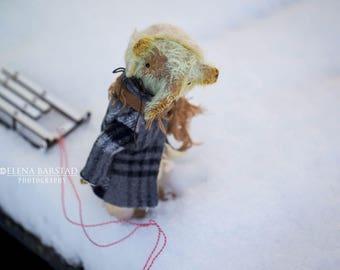 Teddy-elefant, teddy art, soft sculpture, textile, stuffed, vintage style, handcrafted, teddy bear, bears, teddy artist