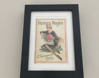 Classic Cookery Book cover print- framed - Pantry Pages