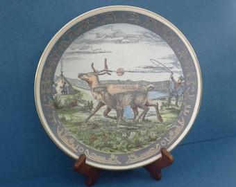 "SORLANDET Norge Pa Langs Porcelain Decorator Plate #1 Jonas Hinna 8 1/5"""