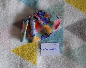 Elastic skirt with flowers for Pullip