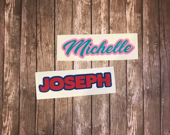 Michelle Name Decal * Joseph name Decal *  READY TO SHIP (dd82-83)