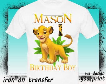 Lion Guard Iron On Transfer, Lion Guard Birthday Boy Iron On Transfer, Lion Guard Birthday Shirt Iron On Transfer, Digital File