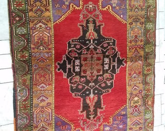 Beautiful Yahyali vintage Turkish carpet. Over 90 years old