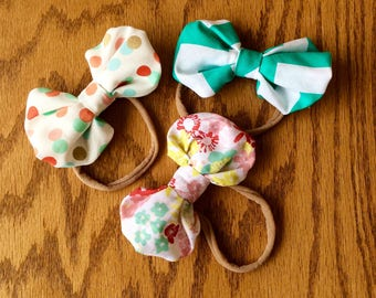 Bubble bow, baby bow, nylon headband, baby girl, toddler