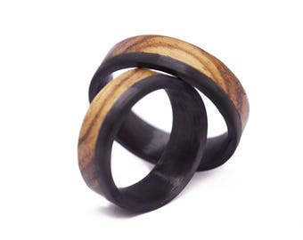 Zebrawood & Carbon Ring