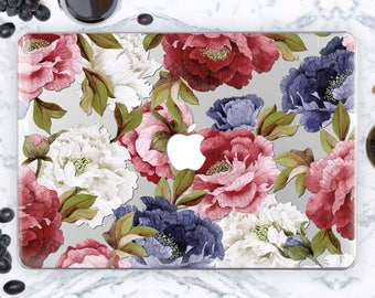 Macbook Pro Hard Case Macbook Air 13 Hard Case Floral Macbook 15 inch Hard Case Summer New Macbook Pro Hard Case Roses Macbook Case mcn013