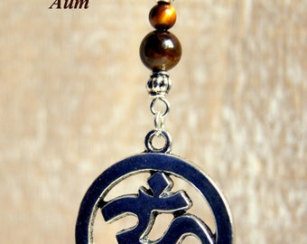 Aum necklace gems and pearls