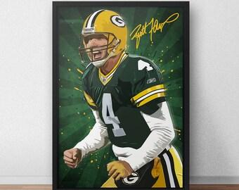 Brett Favre Poster - Green Bay Packers