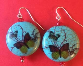 Antique like butterfly earrings